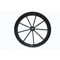 Buy cheap Black 24'' solid rubber rear wheel assembly from wholesalers