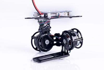 Quality Multicopter Gimbal 2-Axis Brushless Gimbal +Gopro Hero 3 Fixing Band for FPV for sale