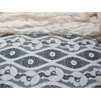 Soft Ivory Cotton Nylon Voile Lace Fabric , Floral Lace Mesh Fabric SYD-0012