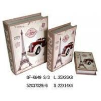 Wholesale Book Box waterproof printing fashion wooden book box from china suppliers