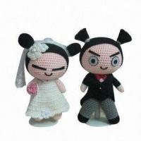 Buy cheap Handmade Crochet Sweet Wedding Doll, Various Colors and Styles are Available from wholesalers
