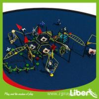 Buy cheap Funny Rubber Mat Flooring Straw House Park Playground with Swing and Outdoor Fitness from wholesalers