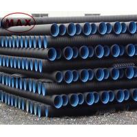 Material pe 100 black double wall corrugated pipe