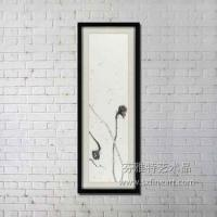 Buy cheap Latest Chinese style lotus design 100% handmade ink painting from wholesalers