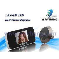 Buy cheap and Industry security system Video peephole door camera with video recording+ph WH-705 from wholesalers