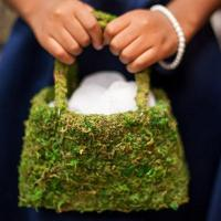 Buy cheap Green Flower Girl Moss Baskets from wholesalers