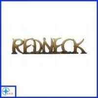 Custom your own design decorative bronze resin letters