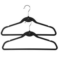 Buy cheap Hangerworld Flocked Suit Hanger with U Notches and Cascading Hook from wholesalers