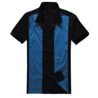 Buy cheap short sleeve button up collared men hip hop clothing custom designer shirt from wholesalers