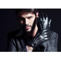 Buy cheap Sheep Leather Men Brown / Black / Light Brown Leather Gloves With Basic Style / Belt Cuff from wholesalers