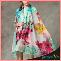 Buy cheap 100% Cotton Custom Digital Printing Wide Pashmina Shawl from wholesalers