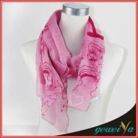 Wholesale Printing Pink Loveliness Cartoon Scarf from china suppliers
