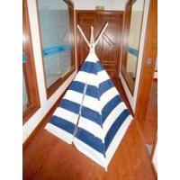 Buy cheap wood pole poly-cotton strip kids children wigwam teepee play tent from wholesalers