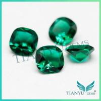 Buy cheap Wholesale blue emerald stone bulk gemstone /rough cut synthetic raw emerald stone for sale from wholesalers