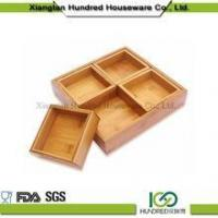 Cheap Extra large bamboo kitchen cutlery tray with high quality