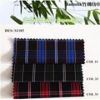 Stock fabric Check design Natural Wrinkle-free Fabric fabric for designing clothing Manufactures