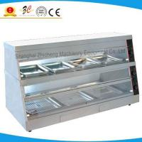 Fried chicken curved glass warming showcase