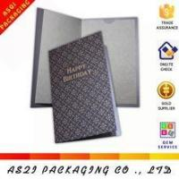 Wholesale high end birthday card, hot stamping birthday card, luxury business birthday card from china suppliers