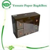 Wholesale plain black print corrugated paper carton gift box with clear PVC window for wammer bag from china suppliers