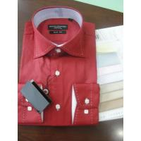 Buy cheap KM-393 Mens cotrast solid saddle stitching high collar dress shirts from wholesalers