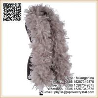 Buy cheap Mothers Day Colorful Dyed Taupe Turkey Feather Boa Scarf from wholesalers