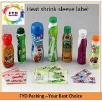 Buy cheap Shenzhen Factory Printed PVC Shrink Film For Beverage Bottles from wholesalers