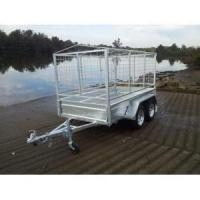 Buy cheap Hot Dipped Galvanized 8'x5' Tandem Axle Cage Box Tipping Trailer from wholesalers