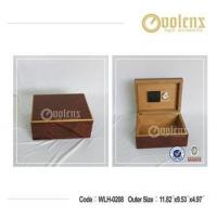 Buy cheap High-End Solid Wood Veneer Covered Cigar Humidor Remote Storage Box from wholesalers