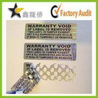 Buy cheap Tamper evident holographic label / Security Hologram VOID sticker from wholesalers