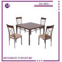 China Hot sale dining room set cheap home furniture wood dining table and chairs on sale