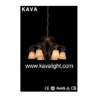 Buy cheap Chandeliers Antique Style Chandeliers with Gold Brush Red from wholesalers