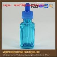 Buy cheap french square glass dropper bottles wholesales e liquid bottles with childproof cap from wholesalers