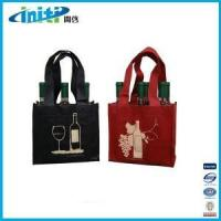 Buy cheap 2015 new products wholesale wine glass carrier bag from wholesalers