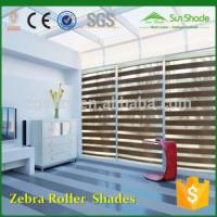 Buy cheap Manual Motorized remotes Fabric zebra window roller shades & curtain from wholesalers