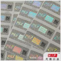 Buy cheap 30 micron Custom Hologram Tamper Evident Security Labels from wholesalers