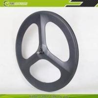 Buy cheap 3k / UD matte or glossy finishing 700c 3-spoke carbon wheel carbon tri-spoke wheel carbon from wholesalers