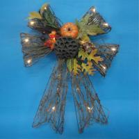 Harvest Rattan Bowknot With Leaves C06-33020