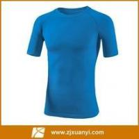 Buy cheap blue color men running Tshirt with short sleeve from wholesalers