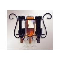 Buy cheap Wire shelf series Product name:Wire 3-Bottle Wall Wine/Glass Holder from wholesalers
