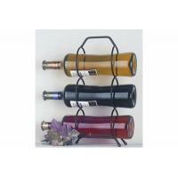 Buy cheap Wire shelf series Product name:Wire Triple Wine Bottle Holder from wholesalers
