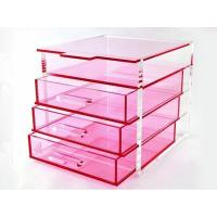 Wholesale 4 Tiers Acrylic Cosmetic Storage Box from china suppliers