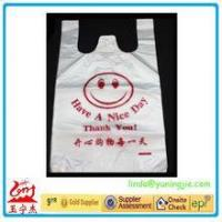 Cheap custom HDPE/LDPE plastic t-shirt shopping bags with printing Manufactures