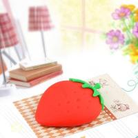 Wholesale Contact Strawberry silicone key bag (5) from china suppliers