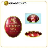bottle round aluminum red label whisky