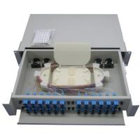 Wholesale Outdoor optic cable Rack Mount Fiber Optic Patch Panel White from china suppliers