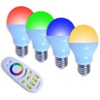 Buy cheap 2.4G Grouping RGBW LED Light Bulb (6W Plastic cover the aluminum) from wholesalers