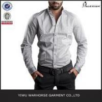 Wholesale OEM latest design solid color blank cotton loose men trendy casual shirt from china suppliers