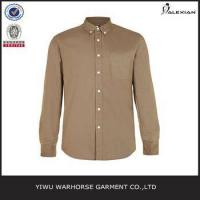 Walnut Brown Oxford Long Sleeve Casual Shirt
