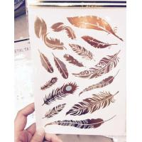 Wholesale Crystal Sticker Metal Gold Silver Color Tattoo from china suppliers