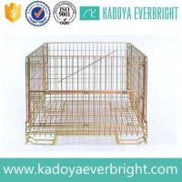 Industry stackable metal wire storage cage Manufactures